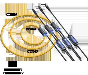 AC FLEXIBLE CURRENT SENSOR CT 7040 series